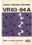 Паспорт на станок MAS VR 83A радиально-сверлильный