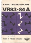 Паспорт на станок MAS VR 84A радиально-сверлильный