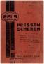 Паспорт на пресс Pels DU 500/1000 с боковым ползуном